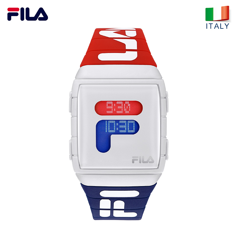 Fila квадратные электронные часы Высокое качество спортивный стиль Мужские и женские водостойкие часы ремешок наручные часы PU Группа 25 часов