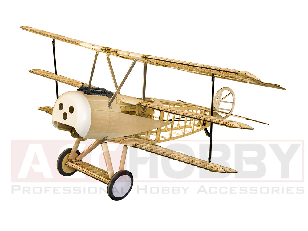 Balsawood Airplane Model Laser Cut Fokker de energía eléctrica DRI - Juguetes con control remoto - foto 1