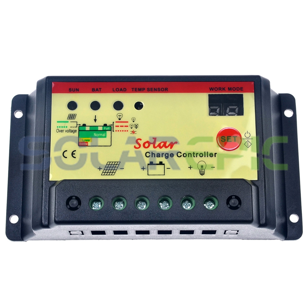 30a Pwm Solar Charge Controller 12v 24vdc Auto Battery Regulator Controllers 12 24v With Lighttimer Funtion 360w 720w In From Home