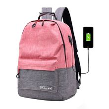 High Quality College Student Backpack for Men Women Boys Girls Bookbag with USB Charging Port Bagpack Schoolbag for Laptop
