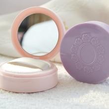 1 pz specchio Cosmetico di plastica vuota sciolto vaso in polvere con setaccio Clamshell custodia Da Viaggio di Trucco in polvere compatta Scatola subpackage