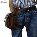 De alta calidad de cuero genuino Bolso de cuero Real de Los Hombres de La Cintura Bolsa pistolera ipad mini zurriago paquete de la cintura bolsa de pierna gota fanny pack para ocasional