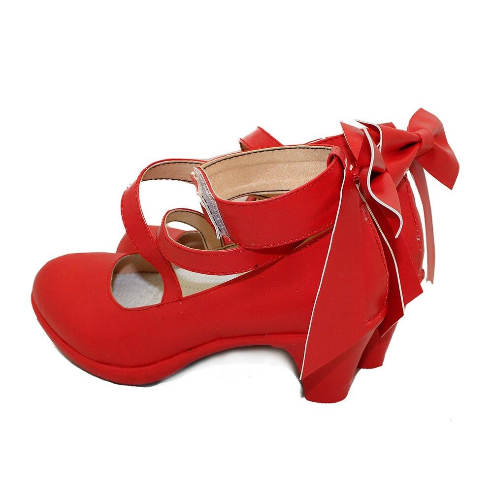 Puella Magi Madoka Magica Women's kaname madoka Cosplay custom high heeled shoes Sandals