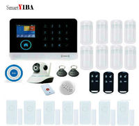 SmartYIBA GPRS SMS 3G Security System WIFI Alarm System With Operation Menu In Multi languages Fire/Smoke Panic Alarm