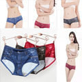 Sexy Ladies Jeans Panties American Apparel Black Hot Shorts Screen Printed Underpants Women Briefs Lingerie