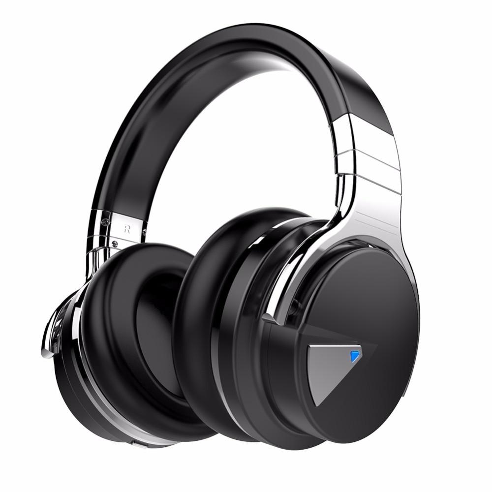 Cowin e7 com cancelamento de ruído fones de ouvido fone baixo música telefone sem fio fone bluetooth esportes earmuffs computador