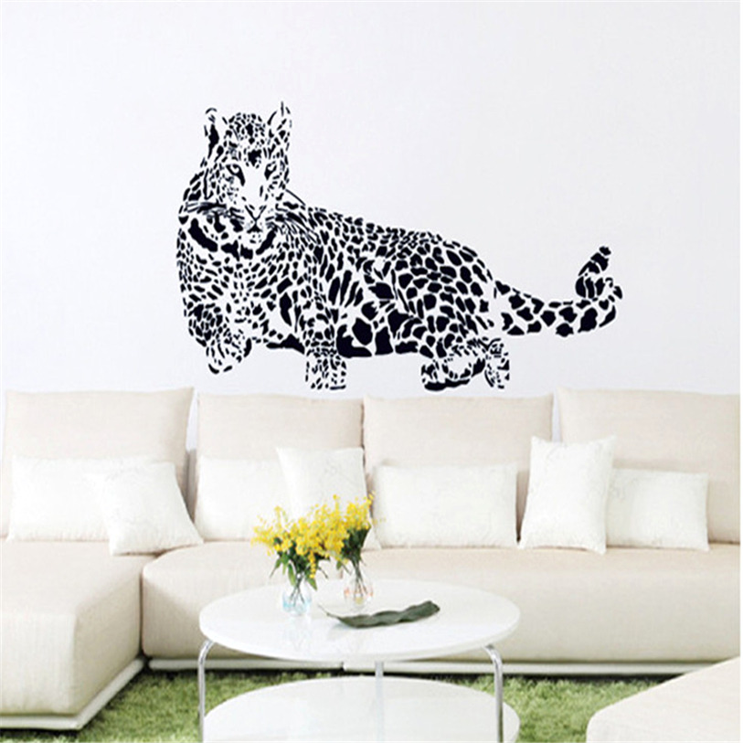 Wallpaper Sticker Bedroom 1 PC New Creative Cheetah Stickers ...