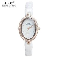 IBSO Top Brand reloj de Cuarzo Relojes de Las Mujeres 2017 Correa de Cerámica De Calidad de Lujo en Moda Mujer Reloj de Diamantes de Cristal Relojes de Señoras
