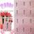 2015 NUEVO 90 Unids/lote etiqueta engomada del clavo 3D TJ001-024White Estilo Tatuajes de uñas fototerapia flor del gancho de Plata estampado en caliente Blanco