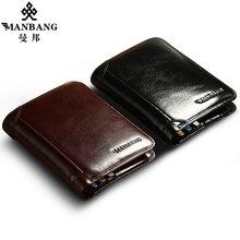 ManBang Classic Style Wallet Genuine Leather Men Wa