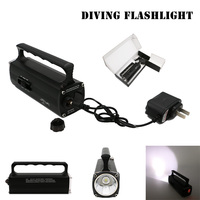 Waterproof Dive Flashlight Scuba Torch Diving 100M Portable Handheld Lanterna Marine Flashlight Built in Battery with Charger
