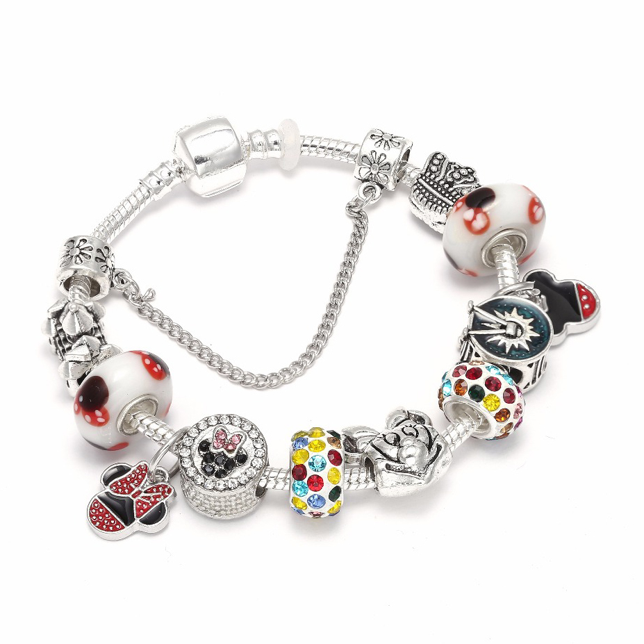Pandora Jewelry For Sale: Hot Sale Mickey & Minnie Charm Bracelets For Women Kids