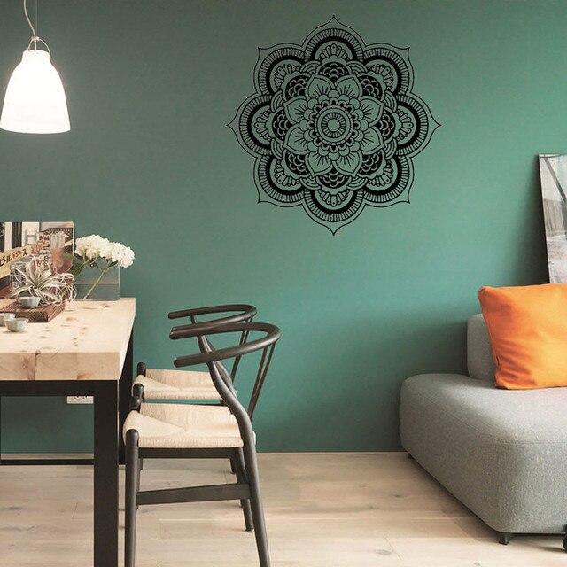 US $4.35 38% OFF|Neue Qualified Mandala Blumen Indischen Schlafzimmer  Wandtattoo Wandhaupt Vinyl Familie Adesivo de parede Drop Ship D45Au3 in  Neue ...