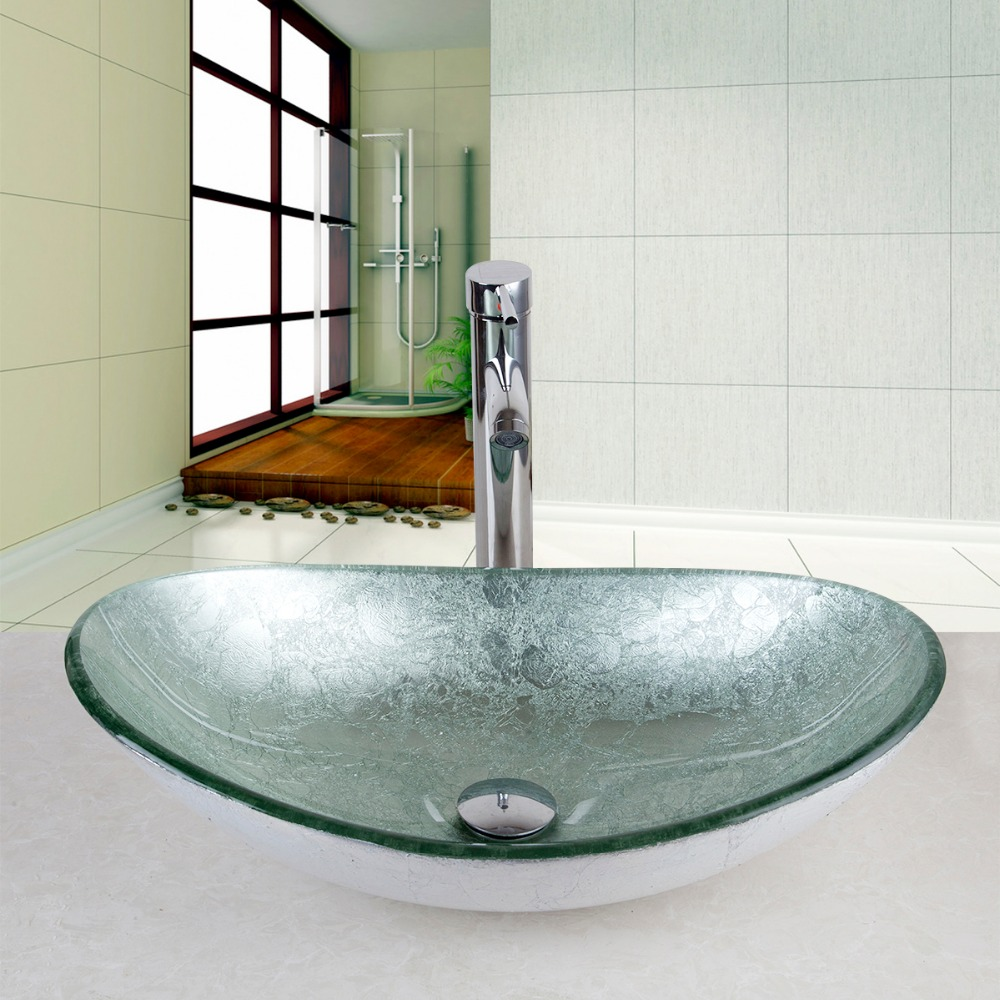 Bathroom Sinks Glass Bowls popular sink glass bowl-buy cheap sink glass bowl lots from china