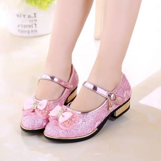 Children Princess Shoes New 2018 Spring Girls Sequins Girls Wedding Party Kids Dress Shoes for Girls School Sandals EU 27~37