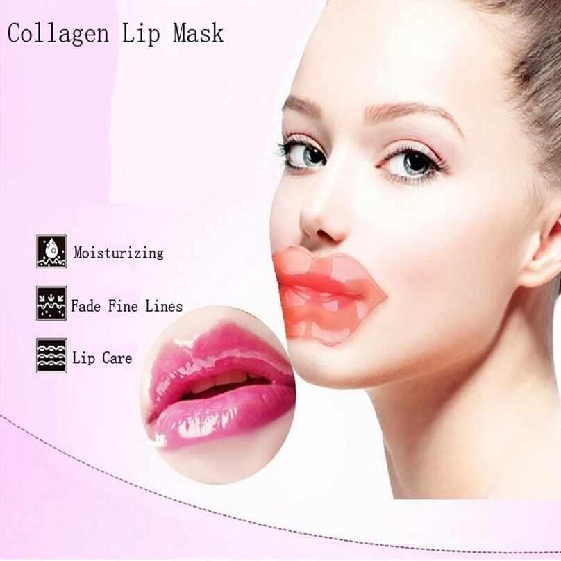 Bittb 2 Pcs קולגן לחות שפתיים מסכת שפתיים מזינות מקל טיפול רפידות איפור כלי מימה שפתון קריסטל לשחזר מסכת שפתיים