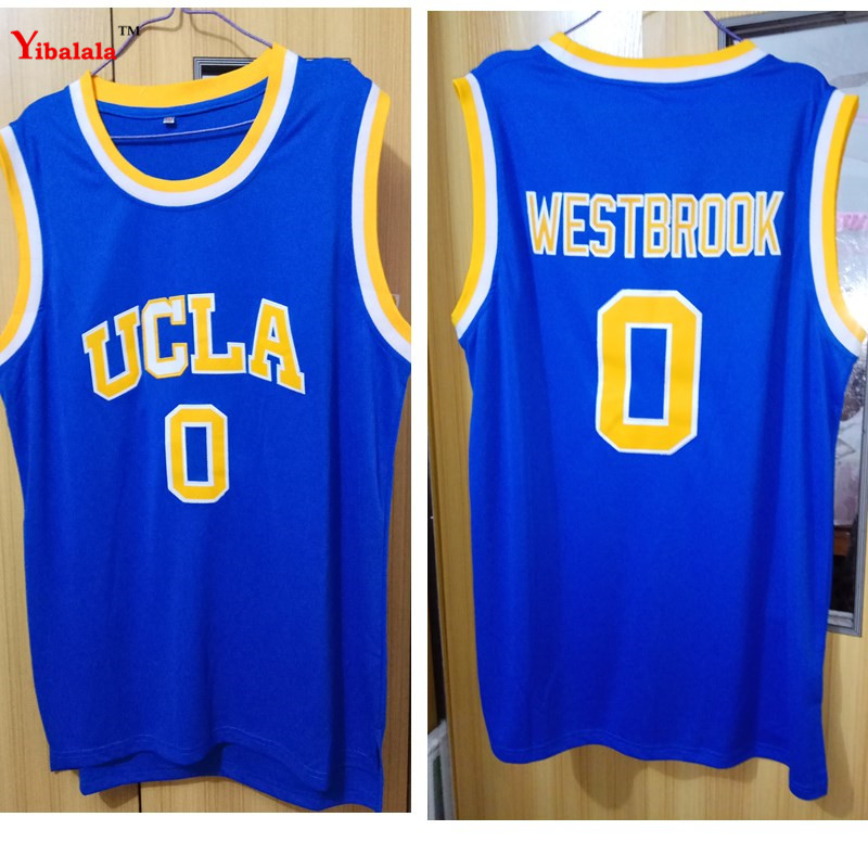 72ab47ce2b73 Detail Feedback Questions about Mens Russell Westbrook  0 UCLA Bruins Blue  Stitched Basketball Jersey Stitched Embroidery Logos college basketball  jerseys ...