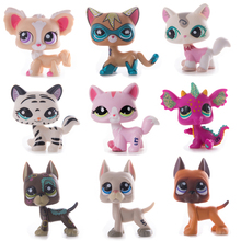 Hot Sell Lps Pet Shop Collections Cute Standing Short Hair Cat Dog Animal Pvc Model Action Figure Hot Toys For Children Gifts