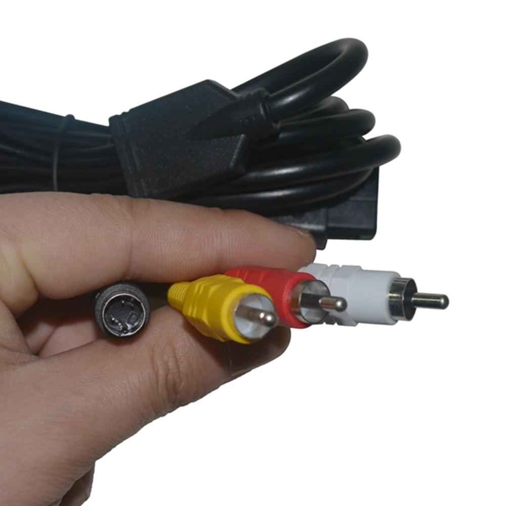 10 pièces beaucoup s vidéo AV Audio vidéo câble pour Nintendo pour 64 pour GameCube pour N64 pour GC pour SNES-in Câbles from Electronique    1