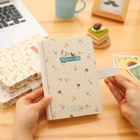 2017 Korean Creative Magnetic Notebook Vintage Line Paper Diary Planner Memo Agenda Notepad Stationery School Office