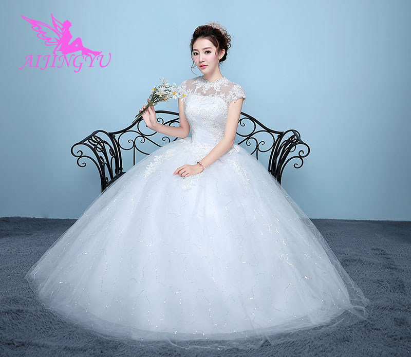AIJINGYU 2018 Wholesale Free Shipping New Hot Selling Cheap Ball Gown Lace Up Back Formal Bride Dresses Wedding Dress WK845