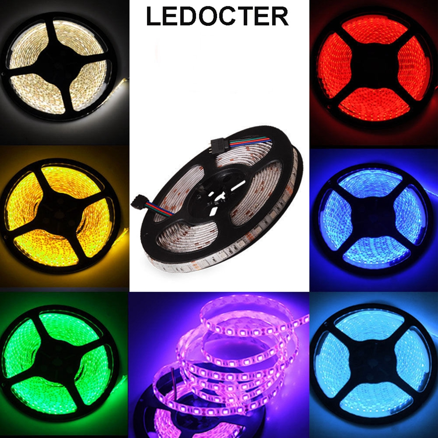 5M 500cm LED Strip Light 16ft Waterproof IP65 RGB /single color SMD 5050 Flexible Strip DC 12V 300LEDs Christmas Party Wire Tape