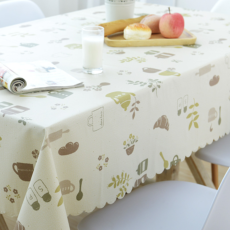 Garden Table Cloth Waterproof and Oil Proof Hot Disposable Tablecloth PVC Plastic Tablec ...