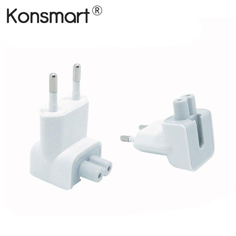 KONSMART Wall Plug Duckhead AC Power Adapter For Apple iPad iPhone 7 8 Plus Charger MacBook Air European Adapter Standard Socket
