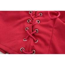 2018 Fashion Sexy Women 2 Pieces Set V Neck Strap Slip Tank Top Holes Lace Up Irregular Party Night Club Side Slit Skirts 621