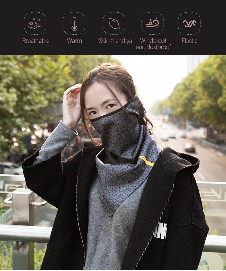 CoolChange Bicycle Mask Winter Warm Face Mask Elastic Cycling Triangle Mask Polar Fleece Breathable Ear Protector Bike Facemask