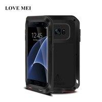 LOVE MEI Original Brand Case For Samsung Galaxy S7 Edge Life Waterproof Shockproof Aluminum Metal Cover