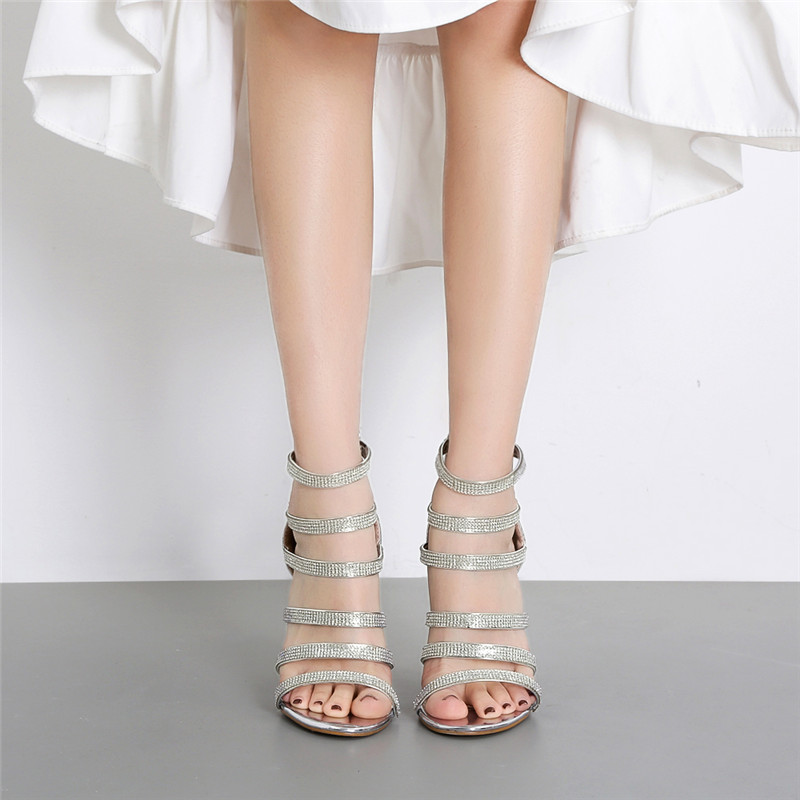 2019 Sexy Personality <font><b>Women</b></font> 12cm High <font><b>Heels</b></font> Sandals Metal <font><b>Heels</b></font> Sandals Cool Comfortable Designer Brand Elegant Chunky Pumps image