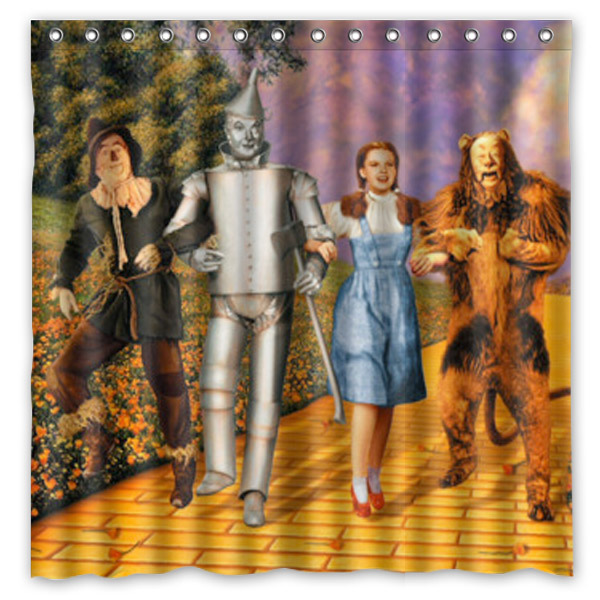 The Wizard Of Oz Printed Waterproof Polyester Bath Shower Curtain 180X180CM