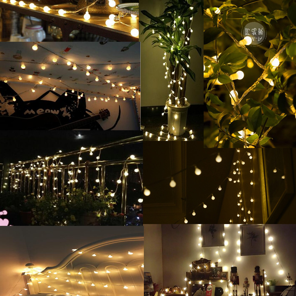 1PC Fairy 20m 200 LED luminaria dekoration Garland bollsträng lampor - Festlig belysning - Foto 3