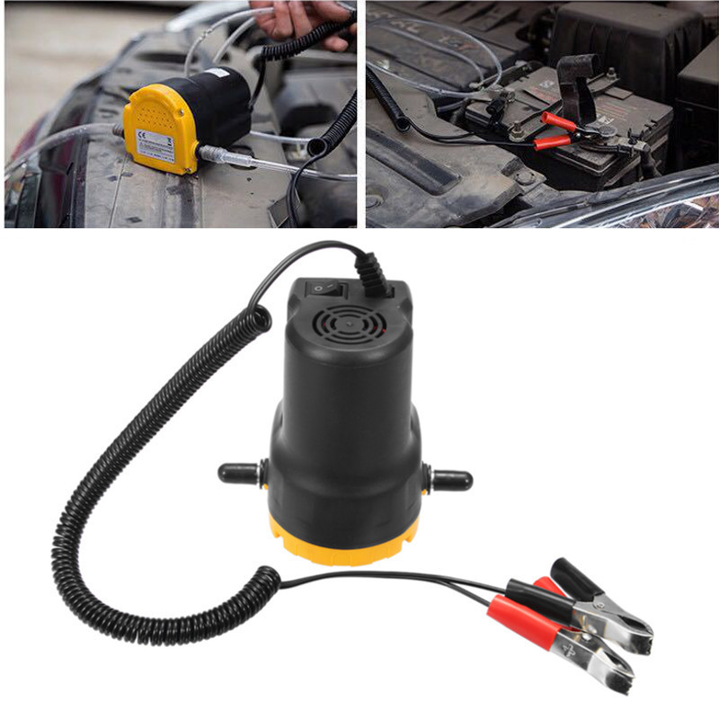 DC12V Engine Oil Pump Electric Oil-Diesel Fluid Sump Extractor Scavenge Exchange Fuel Transfer Suction Pump Car Boat Motorbike 7l manual car oil vacuum extractor pump petrol water suction extractiontransfer fluid fuel transfer oil tank pump for car boat