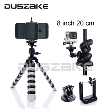 Mini Mobile Phone Stand Tripod Flexible Octopus Desktop holder Mount Tripod Gorillapod 8″ for iPhone 7 Huawei GoPro camera