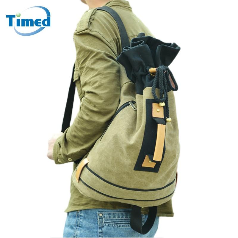 4 цвета рюкзак Для мужчин Путешествия Сумки на плечо Mochila masculina Drawstring Bucket Bag заклепки большой Школьные ранцы для подростков