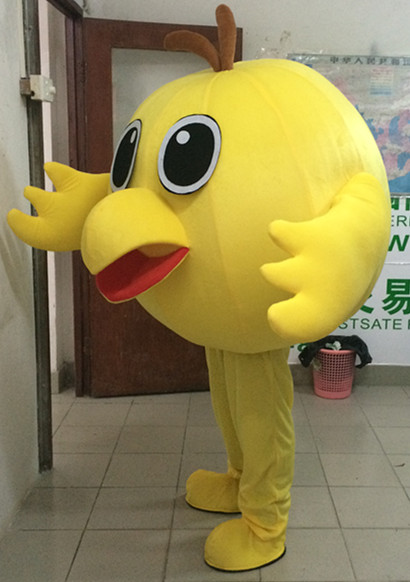Small Bird Yellow Chicken Mascot Costume Cartoon Apparel Masquerade Birthday Party Cosplay Apparel in Mascot from Novelty Special Use