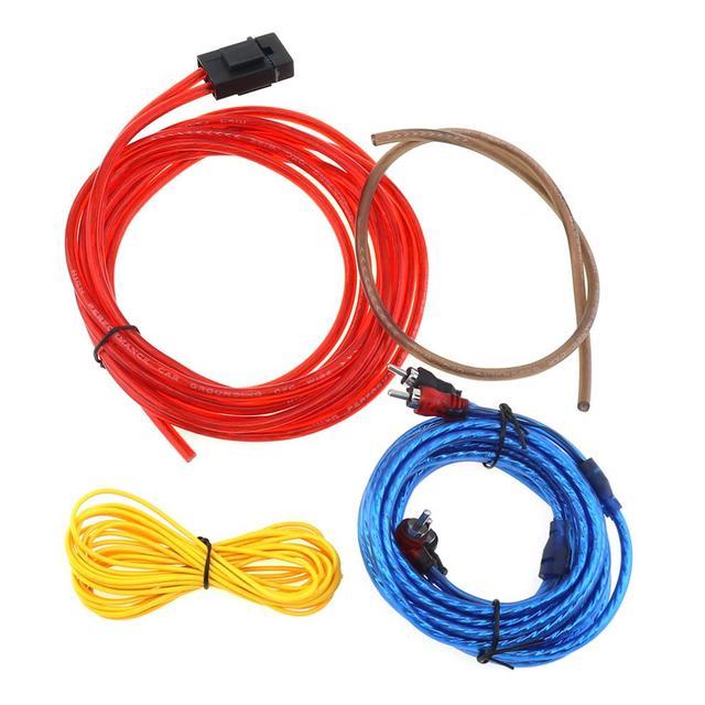 Best Offers 1 Set 175 Core 4M PVC + Copper Clad Aluminum Universal Car Power Amplifier Audio Line Speaker Woofer Cables Power Line