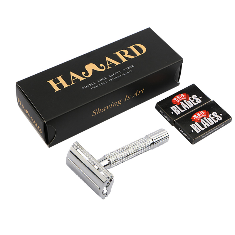HAWARD Safety Razor Men's Classic Shaving Razor Double Edge Manual Shaver Zinc Alloy Butterfly Shaver For Shaving&Hair Removal
