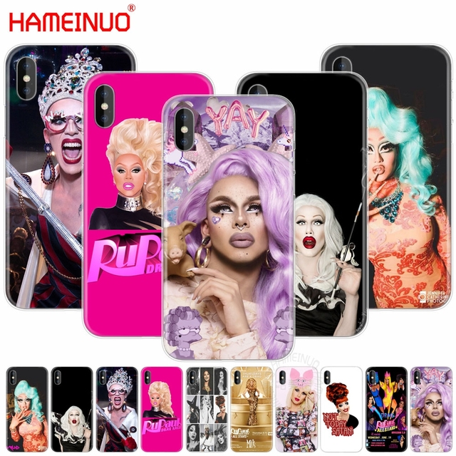 new product 5ce53 b6f8d US $1.55 34% OFF|HAMEINUO RuPaul's Drag Race stars cell phone Cover case  for iphone X 8 7 6 4 4s 5 5s SE 5c 6s plus-in Half-wrapped Case from ...