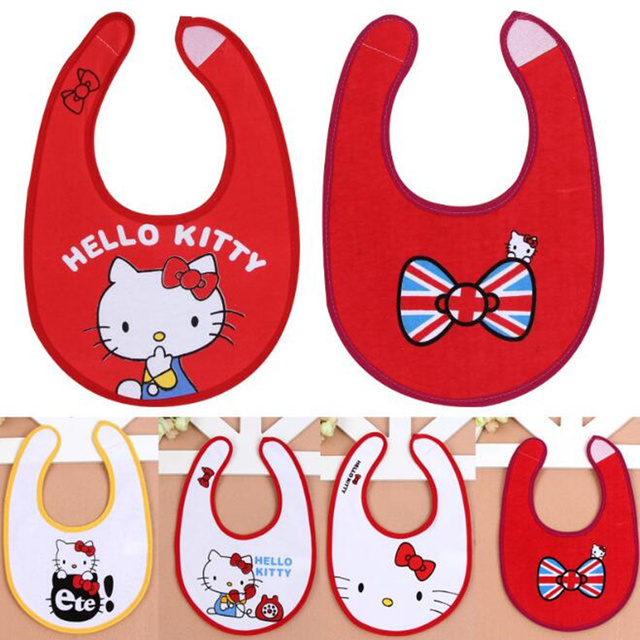 Fast Ship Cotton Baby Bibs Waterproof Infant Saliva Towels Newborn Cartoon Pattern Toddler Bibs Cat Printed Burp Cloths Feeding