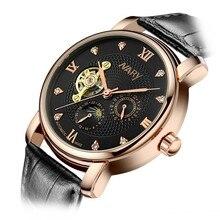 ビジネス新しい機械式ハンド風腕時計男性レロジオmasculino時計時計メンズ時計タイマーerkek kol saati