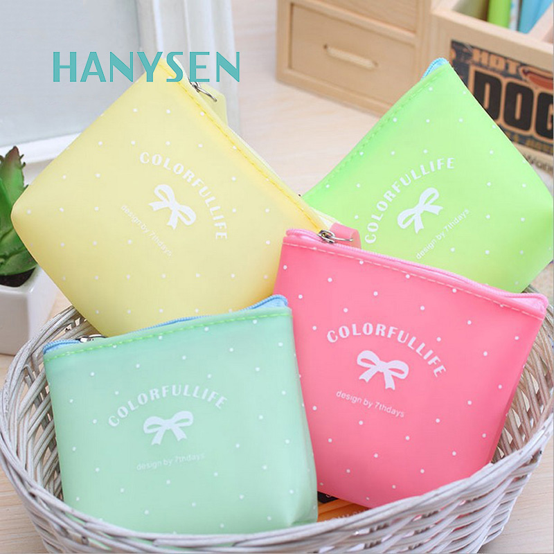 2017 Korean Candy Color Jelly Bow Purse For Girls School Student Coin Purse Casual Letter Printing Ladies Small Satchels Wallet