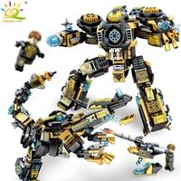 2in1 Avenger Armure guerrier dragon soldat figures building blocks Compatible Legoed technique mecha éclairer briques enfants jouet