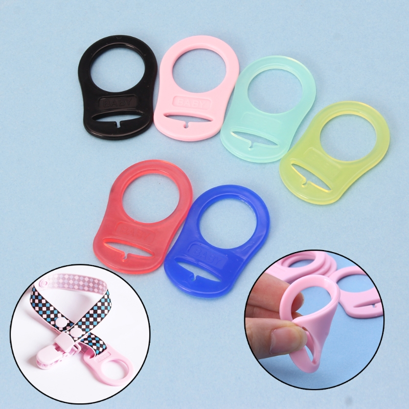 5Pcs/ Set Baby Nipple Rings Multi Colors Silicone Baby Dummy Pacifier Holder Clip Adapter For MAM Rings