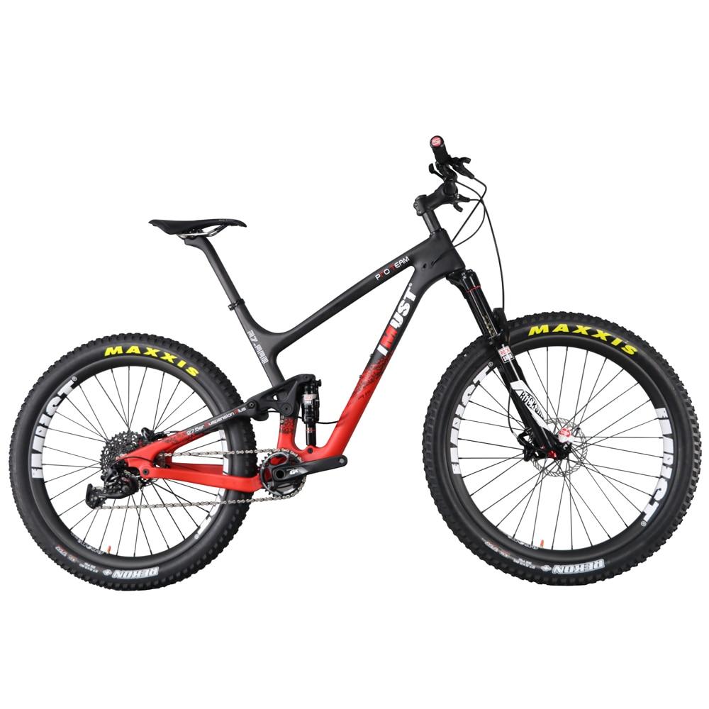 2017 IMUST 650B plus enduro carbon fiber mountain bikes high end 27.5 plus 3.0 tires bik ...