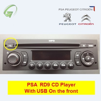 RD9 Car Radio with CD Screen USB for Peugeot 207 206 307 308 Citroen C2 Elysee ZX C4 VW Jetta Gol Polo MK4 1 Piece