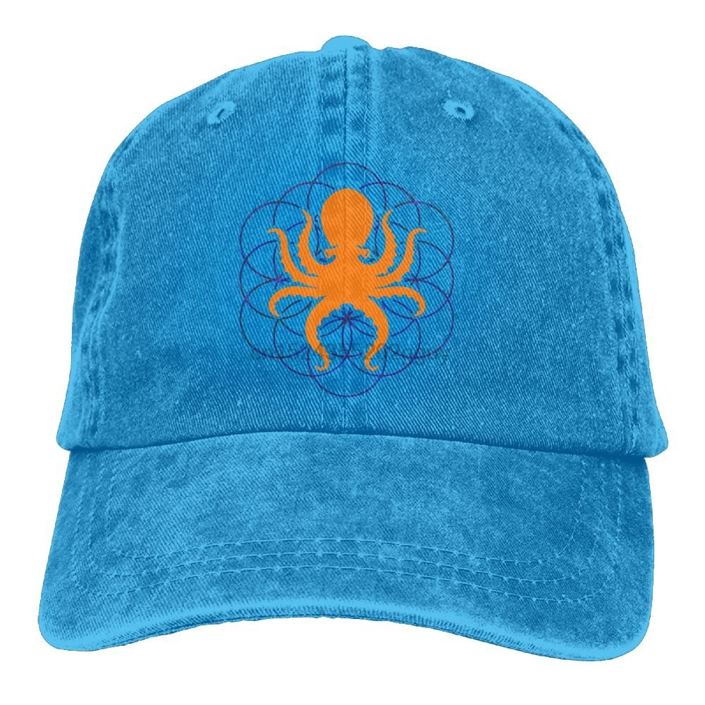 d687d1cf0e1 Aliexpress.com   Buy Baseball Jeans Cap Psychedelic Sacred Geometry Octopus  2 Men Golf Hats Adjustable Dad Hat from Reliable Baseball Caps suppliers on  ...