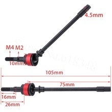 2PCS Hard Steel Front Axle CVD Drive Shaft for 1/10 Axial SCX10 Upgrade Option Parts Hop-Up